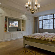 复式楼欧式简约风格卧室组合衣柜装修效果图