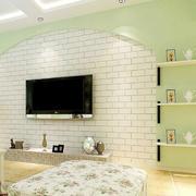 韩式田园大户型客厅影视墙效果图大全