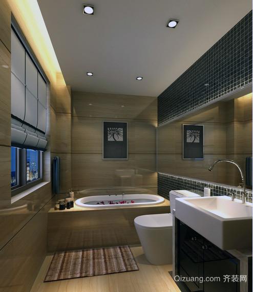 现代欧式大户型洗手间装修效果图