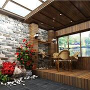 阳光房生态木吊顶