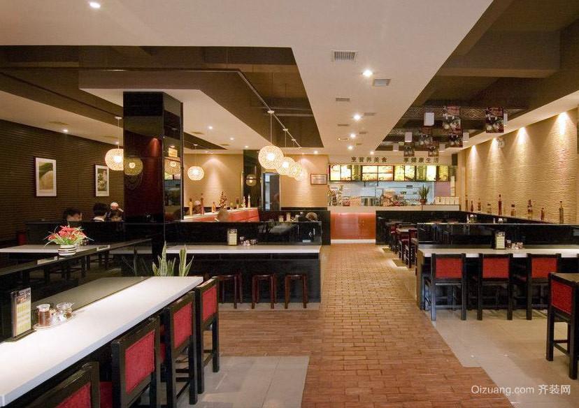 典雅高贵的中式快餐店装修设计效果图