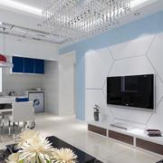 精致简欧大户型电视背景墙装修效果图