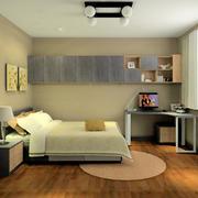 小户型复式楼简约风格卧室装修效果图