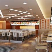 快餐店现代餐桌椅