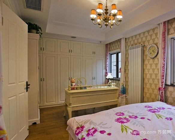 大户型欧式田园风格卧室组合衣柜装饰
