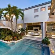 精致豪华现代庭院泳池