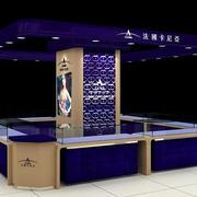 蓝色时尚的柜台