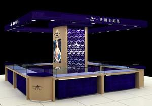 都市商城里高级化妆品柜台设计效果图