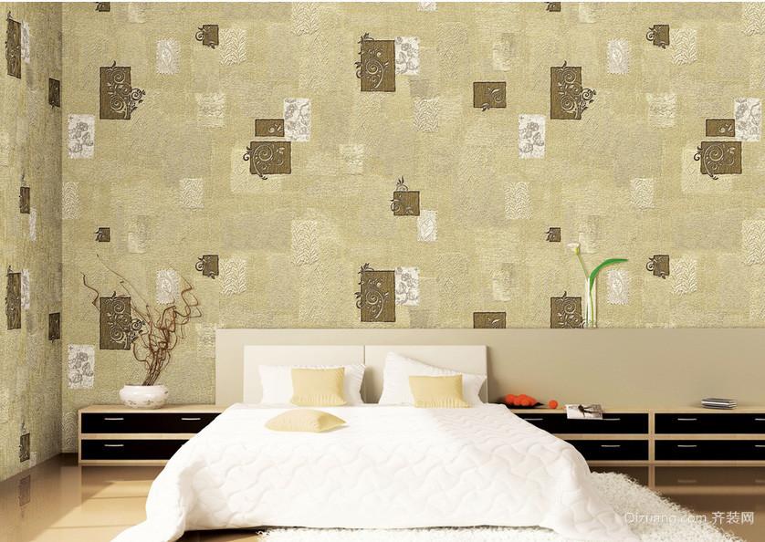 单身公寓卧室液体墙纸装修图片大全