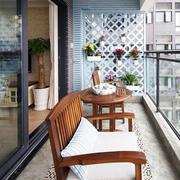 美式简约风格小户型阳台设计