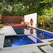 都市别墅庭院泳池欣赏