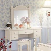 韩式风格清新卧室梳妆台装饰效果图