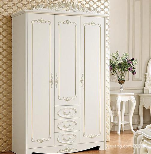 小户型北欧风格清新卧室衣柜装饰图