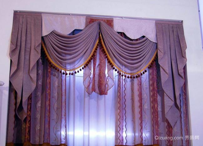 138平米田园风格飘窗窗帘效果图