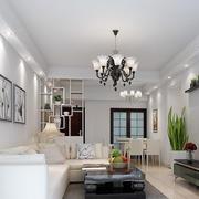 小户型欧式简约风格客厅沙发背景墙装饰