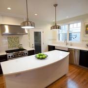 家居厨房白色吧台