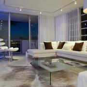 都市单身公寓客厅装修效果图