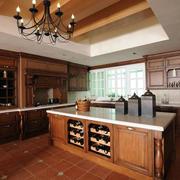 家居美式厨房吧台