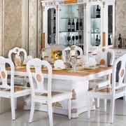 欧式奢华别墅餐厅餐桌装修效果图