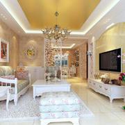 家居客厅花海图片
