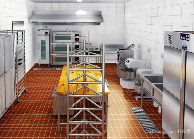 大型饭店糕点商用厨房设计装修效果图