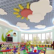 唯美的都市幼儿园教室环境布置装修效果图