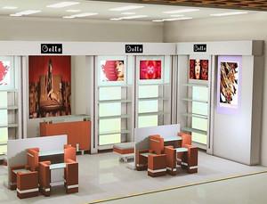 鞋店简约风格置物柜装饰