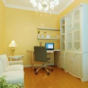 温馨色调书房设计图片