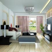 精美独特的欧式大户型客厅装修效果图