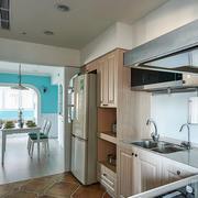 三房两厅厨房实木橱柜