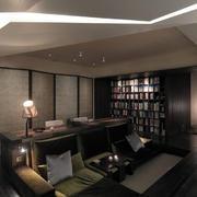家装开放式书房屏风