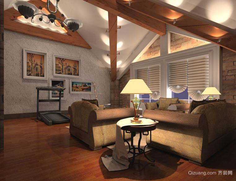 约风格原木酒店客房过道吊顶装饰 齐装网装修效果图