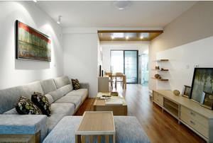 简约120平客厅实木家具装修效果图欣赏