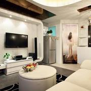 70平米唯美风格单身公寓住宅装修效果图
