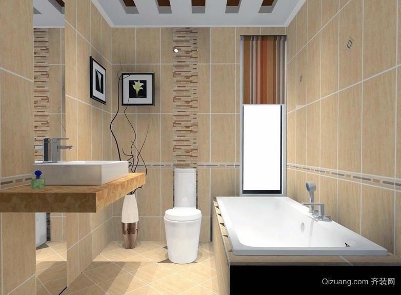 唯美欧式大户型洗手间背景墙装修效果图