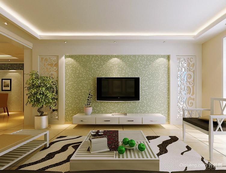 欧式大户型电视背景墙设计装修效果图