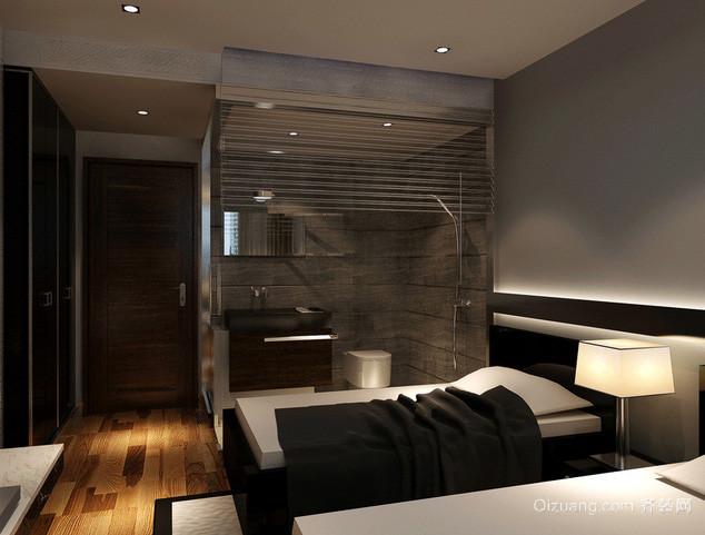 后现代风格酒店双人间客房装修效果图
