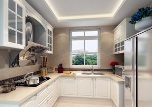 唯美欧式大户型厨房吊顶装修效果图