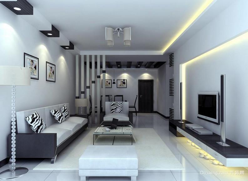 简约男士公寓客厅装修设计效果图欣赏