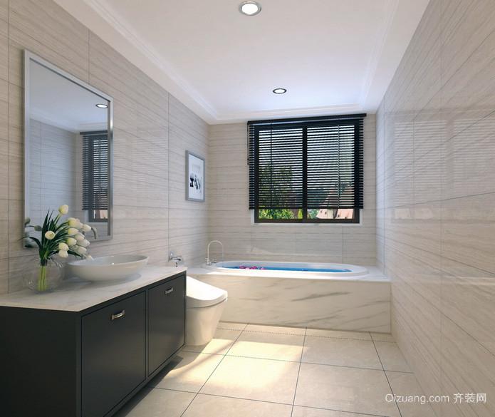 现代欧式大户型卫生间瓷砖颜色装修效果图