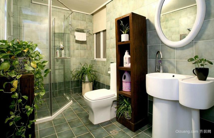 美式乡村大户型浴室置物架装修效果图