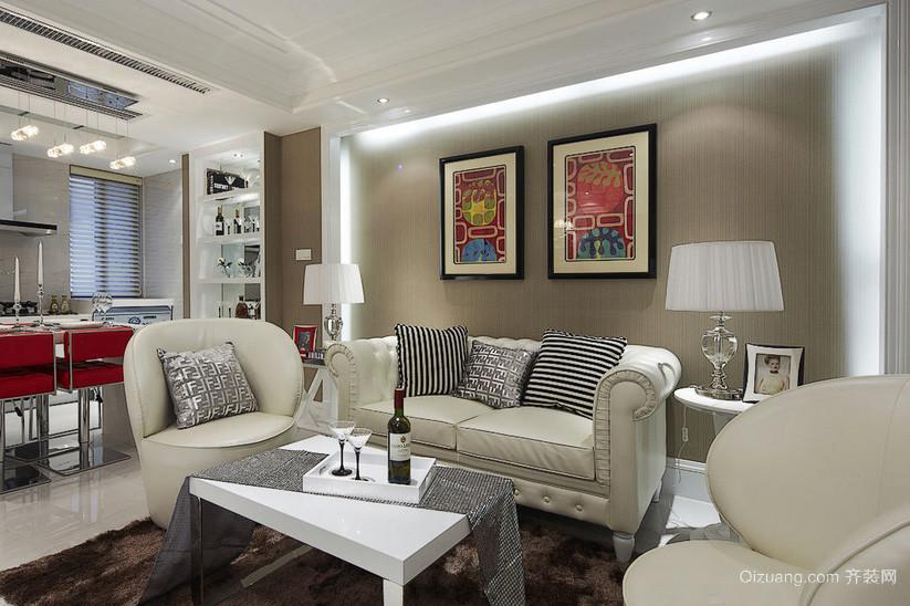 128平米客厅现代装饰画效果图