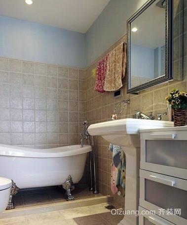 韩式简约风格复式楼小型浴室装修效果图