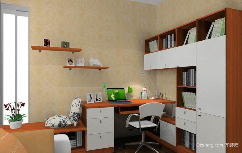 2015跃层精致型小书房装修效果图