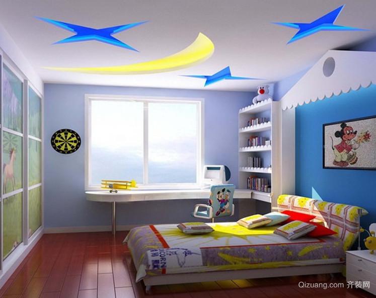 轻快的大户型现代儿童房装修效果图