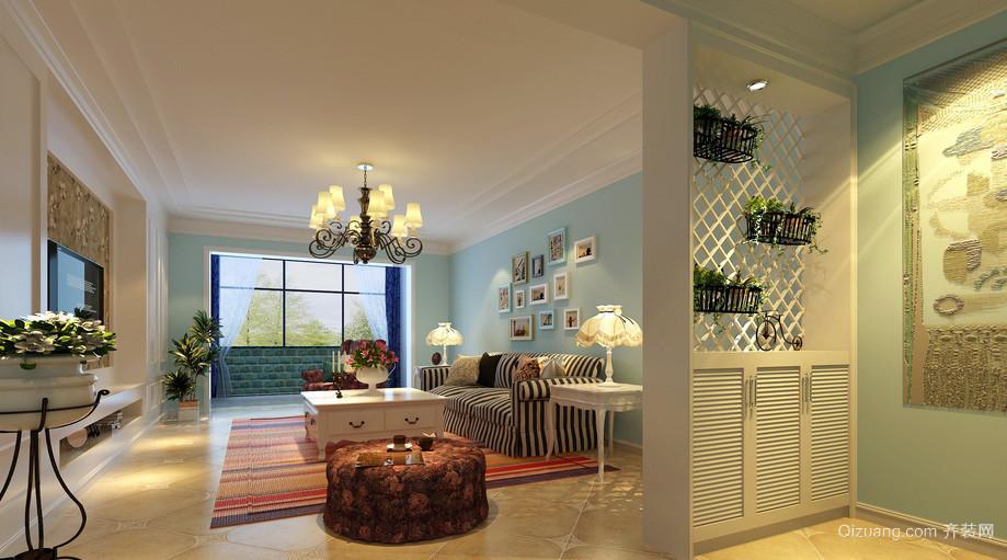 都市田园大户型家居客厅装修效果图