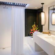 北欧风格清新风格卫生间帷幕隔断装饰