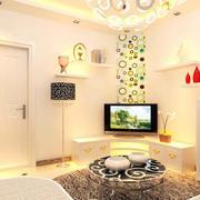 小户型简约风格客厅电视背景墙装饰