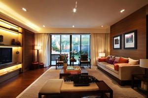 大户型别墅简美式客厅装修效果图
