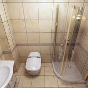 家居温馨黄色卫生间瓷砖